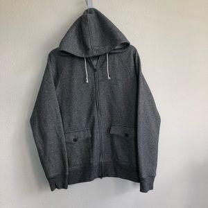 Club Monaco Front Zip hooded cargo pocket jacket